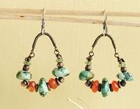 wire and bead chandelier earrings