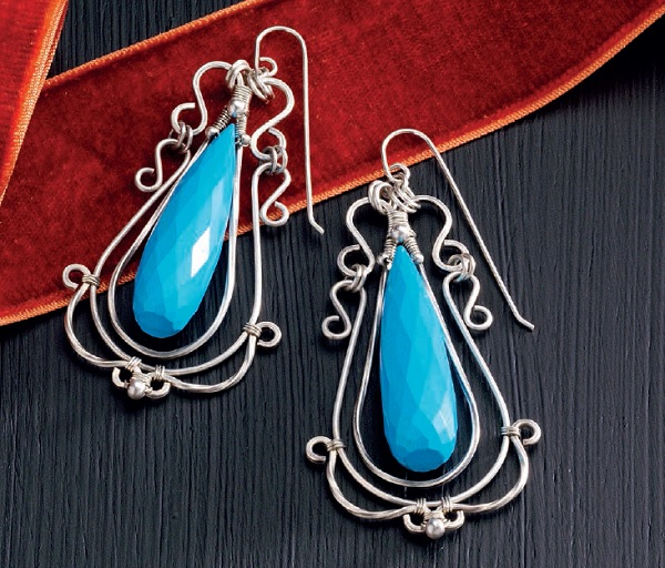 wire jewelry filigree earrings by Jodi Bombardier