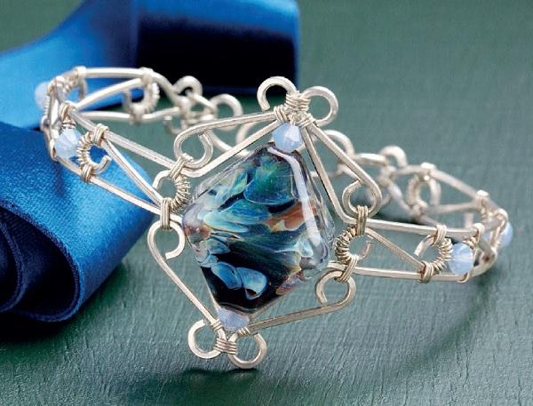 wire jewelry filigree bracelet by Jodi Bombardier