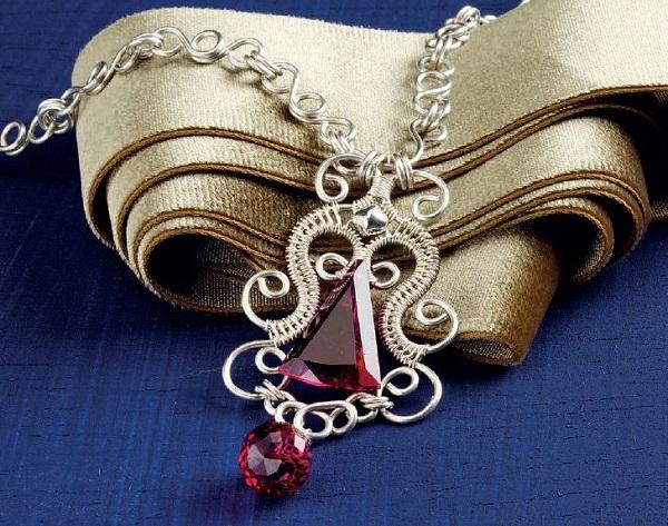 wire jewelry filigree pendant by Jodi Bombardier