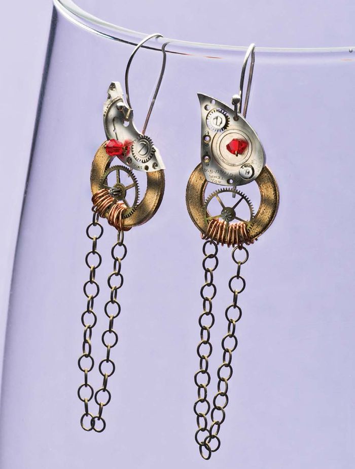 Make these amazing steampunk earrings in our free ebook on what is steampunk and how to make steampunk jewelry.