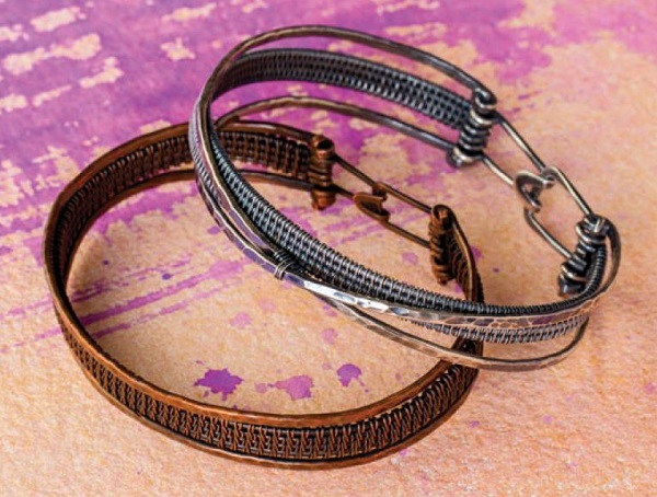 wire weaving bangle