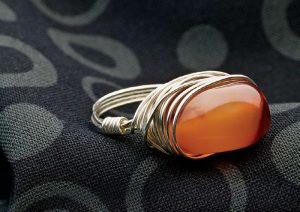 You'll love this wire-wrapped ring project included in this FREE eBook on wire-wrapping crystals.