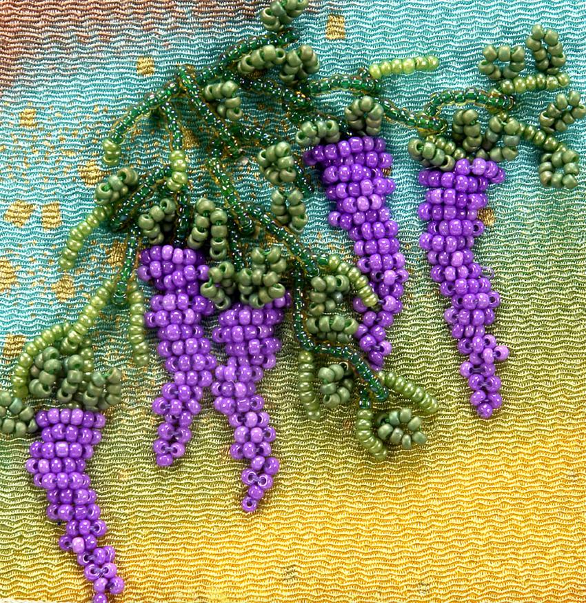 seed beaded wisteria - seed bead botany